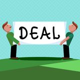 Wortschreibens-Text Abkommen Geschäftskonzept für Vereinbarung nahm an durch zwei teil oder mehr Parteien für ihren beiderseitige stock abbildung