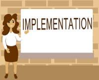 Wortschreibens-Text Durchführung Geschäftskonzept für den Prozess der Herstellung etwas aktiv oder effektiv lizenzfreie abbildung