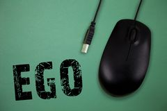 Wortschreibens-Text Ego Geschäftskonzept für Richtung von Selbstachtung selfworth einer bewussten denkenden Angelegenheit der Per lizenzfreies stockbild