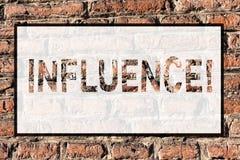Wortschreibens-Text Einfluss Geschäftskonzept, damit die Kapazität Effekt auf andere Charakterentwicklungs-Verhalten Ziegelstein  stockbild