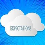 Wortschreibens-Text Erwartung Geschäftskonzept für meteorologischen Forschungsanalytiker sagt Wettervorhersage voraus vektor abbildung