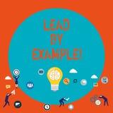 Wortschreibens-Text Führung durch Beispiel Geschäftskonzept für Führungs-Management-Mentor-Organisation lizenzfreie abbildung