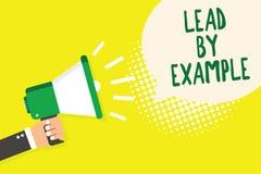 Wortschreibens-Text Führung durch Beispiel Geschäftskonzept für ist ein Mentor, den Führer den Regeln geben Beispiele Trainer Man stock abbildung