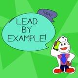 Wortschreibens-Text Führung durch Beispiel Geschäftskonzept für Sie werden, demonstrierend andere, möchten für Ihre Aktionen folg vektor abbildung