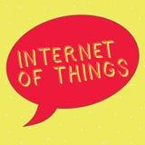 Wortschreibens-Text Internet von Sachen Geschäftskonzept für Verbindung von Geräten zum Netz zu den Send-Receivedaten vektor abbildung