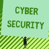 Wortschreibens-Text Internetsicherheit Geschäftskonzept für Protect ein Computersystem gegen Mannstände des unberechtigten Zugrif stock abbildung