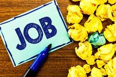 Wortschreibens-Text Job Geschäftskonzept für A zahlte Position des gelegentlichen Werkstücks der festen Anstellung der Aufgabe stockbilder