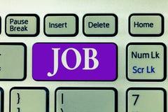 Wortschreibens-Text Job Geschäftskonzept für A zahlte Position des gelegentlichen Werkstücks der festen Anstellung der Aufgabe lizenzfreie stockfotos