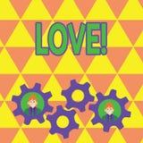 Wortschreibens-Text Liebe Geschäftskonzept für Zubehör Roanalysistic intensive Neigung des Gefühls tiefe sexuelles Verhältnis vektor abbildung