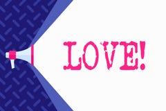 Wortschreibens-Text Liebe Geschäftskonzept für Zubehör Roanalysistic intensive Neigung des Gefühls tiefe sexuelles Verhältnis lizenzfreie abbildung