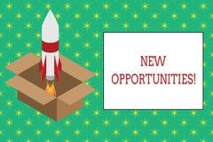 Wortschreibens-Text neue Gelegenheiten Geschäftskonzept für Austauschansichten bedingen vorteilhaftes für Erreichungsziel Feuer stock abbildung