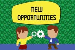 Wortschreibens-Text neue Gelegenheiten Geschäftskonzept für eine Situation, die es möglich, stehendes etwas zu tun macht vektor abbildung