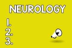 Wortschreibens-Text Neurologie Geschäftskonzept für das Gebiet der Medizin beschäftigend Störungen des Nervensystems vektor abbildung
