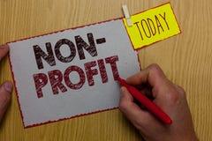 Wortschreibens-Text nicht Gewinn Geschäftskonzept für das Erbringen von Produkten oder von Dienstleistung, ohne den Mann zurück a lizenzfreie stockbilder