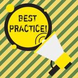 Wortschreibens-Text optimales Verfahren Gesch?ftskonzept f?r die Handelsverfahren, die angenommen wurden, schrieb vor, korrekt zu lizenzfreie abbildung