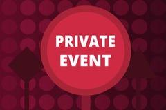 Wortschreibens-Text privates Ereignis Geschäftskonzept für exklusives Einladungs der Reservierungs-RSVP gesetzt stockbild
