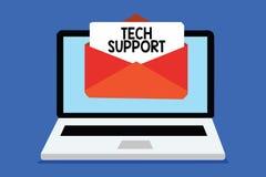 Wortschreibens-Text technische Unterstützung Geschäftskonzept für die Unterstützung von Einzelpersonen, die technische Probleme C lizenzfreie stockbilder