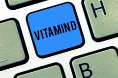 Wortschreibens-Text Vitamin D Geschäftskonzept für den Nährstoff verantwortlich für die Erhöhung der intestinalen Absorption lizenzfreie stockfotos