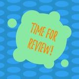 Wortschreibens-Text Zeit für Bericht Geschäftskonzept für Bewertungs-Feedback-Moment Perforanalysisce Rate Assess Blank Deformed stock abbildung