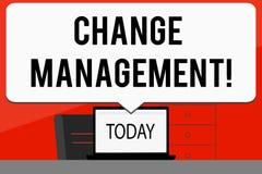 Wortschreibenstext Änderungs-Management Geschäftskonzept für ersetzen Führungen oder Leute-verantwortlichen Ersatz stock abbildung