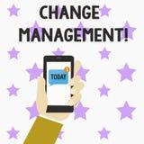 Wortschreibenstext Änderungs-Management Geschäftskonzept für ersetzen Führungen oder Leute-verantwortlichen Ersatz lizenzfreie abbildung