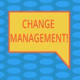 Wortschreibenstext Änderungs-Management Geschäftskonzept für ersetzen Führungen, oder Leute-verantwortlicher Ersatz löscht rechte lizenzfreie abbildung