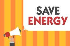 Wortschreibenstext Abwehr-Energie Geschäftskonzept für die Verringerung der Menge von Macht verwendete das Erzielen eines ähnlich lizenzfreie abbildung