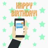 Wortschreibenstext alles Gute zum Geburtstag Geschäftskonzept für die Glückwünsche, die Jahrestag feiern vektor abbildung