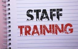 Wortschreibenstext Ausbildung des Personals Geschäftskonzept für unterrichtende Teamwork neue Sachen Angestellt-Bildungs-Vorberei Stockfoto