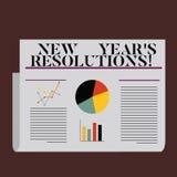 Wortschreibenstext Beschlüsse neuen Jahr-S Geschäftskonzept für Ziel-Ziele visiert Entscheidungen für als nächstes 365 Tage an lizenzfreie abbildung