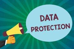 Wortschreibenstext Daten-Schutz Geschäftskonzept für Protect IP address und Personendaten von der schädlichen Software lizenzfreie abbildung