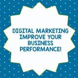 Wortschreibenstext Digital-Marketing Ihr Geschäft Perforanalysisce verbessern Geschäftskonzept für Anzeigen des Sozialen Netzes stock abbildung