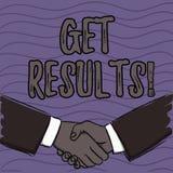 Wortschreibenstext erhalten Ergebnisse Geschäftskonzept für verursacht oder durch noch etwas Konsequenz-Ergebnis Geschäftsmänner  vektor abbildung