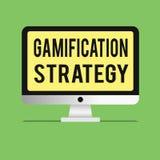 Wortschreibenstext Gamifications-Strategie Geschäftskonzept für Gebrauch Belohnungen für Motivation integrieren Spiel-Mechaniker lizenzfreie abbildung