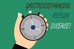 Wortschreibenstext Gastroesophageal Rückfluss-Krankheit Geschäftskonzept für brennenden Schmerz in der Brust der verdauungsförder lizenzfreie abbildung