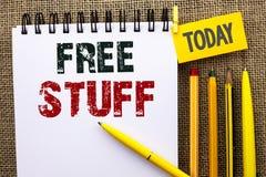 Wortschreibenstext geben Material frei Geschäftskonzept für ergänzendes frei von Kosten Chargeless gratis Costless unbezahltem ge Lizenzfreies Stockbild