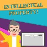 Wortschreibenstext geistiges Eigentum Geschäftskonzept für Protect vor unbefugte Benutzung patentiertem Arbeit oder Ideen-Mann lizenzfreie abbildung