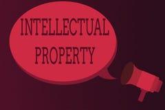 Wortschreibenstext geistiges Eigentum Geschäftskonzept für Protect vor unbefugter Benutzung patentierte Arbeit oder Idee stock abbildung
