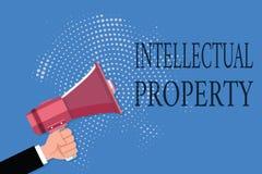 Wortschreibenstext geistiges Eigentum Geschäftskonzept für Protect vor unbefugter Benutzung patentierte Arbeit oder Idee lizenzfreie abbildung