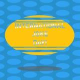 Wortschreibenstext internationaler Witz-Tag Geschäftskonzept, damit Feiertag den Nutzen von gute Stimmung freiem Raum feiert vektor abbildung