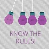Wortschreibenstext kennen die Regeln Geschäftskonzept für Understand Bedingungen erhalten Rechtsberatung von den Rechtsanwälten vektor abbildung