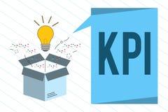 Wortschreibenstext Kpi Geschäftskonzept für Evaluate der Erfolg einer Organisation in einer bestimmten Tätigkeit vektor abbildung
