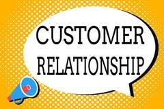 Wortschreibenstext Kunden-Verhältnis Geschäftskonzept für Abkommen und Interaktion zwischen Firma und Verbrauchern stock abbildung