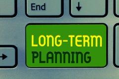 Wortschreibenstext langfristige Planung Geschäftskonzept für Establish erwartete Ziele fünf oder mehr kommende Jahre stockfotos