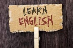 Wortschreibenstext lernen Englisch Geschäftskonzept für Studie eine andere Sprache lernen etwas die fremde Mitteilung, die auf Ka lizenzfreie stockfotografie