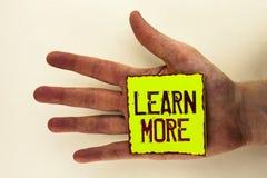 Wortschreibenstext lernen mehr Geschäftskonzept für Studie entwickeln stark neue Fähigkeiten, die Fähigkeiten Extrabildung geschr Stockbilder