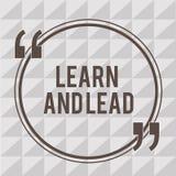 Wortschreibenstext lernen und führen Geschäftskonzept für Improve die für die Führung zu passen Fähigkeiten und das knowleadge, stock abbildung