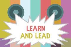 Wortschreibenstext lernen und führen Geschäftskonzept für Improve die für die Führung zu passen Fähigkeiten und das knowleadge, lizenzfreie abbildung
