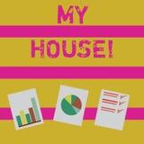 Wortschreibenstext mein Haus Geschäftskonzept für Platz, den Sie bequem glauben können, Leben kochend und herein schlafend vektor abbildung