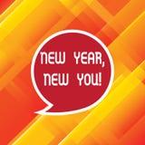Wortschreibenstext neues Jahr neu Sie Geschäftskonzept für 365 Tage Gelegenheiten, Ihren Erwartungen freien Raum zu ändern lizenzfreie abbildung